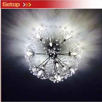 Moderne Luxus FÜHRTE Kristall Deckenleuchte Löwenzahn Kreative Design LED Enthalten Leuchte Parlor Schlafzimmer Restaurant Lüster Lampe