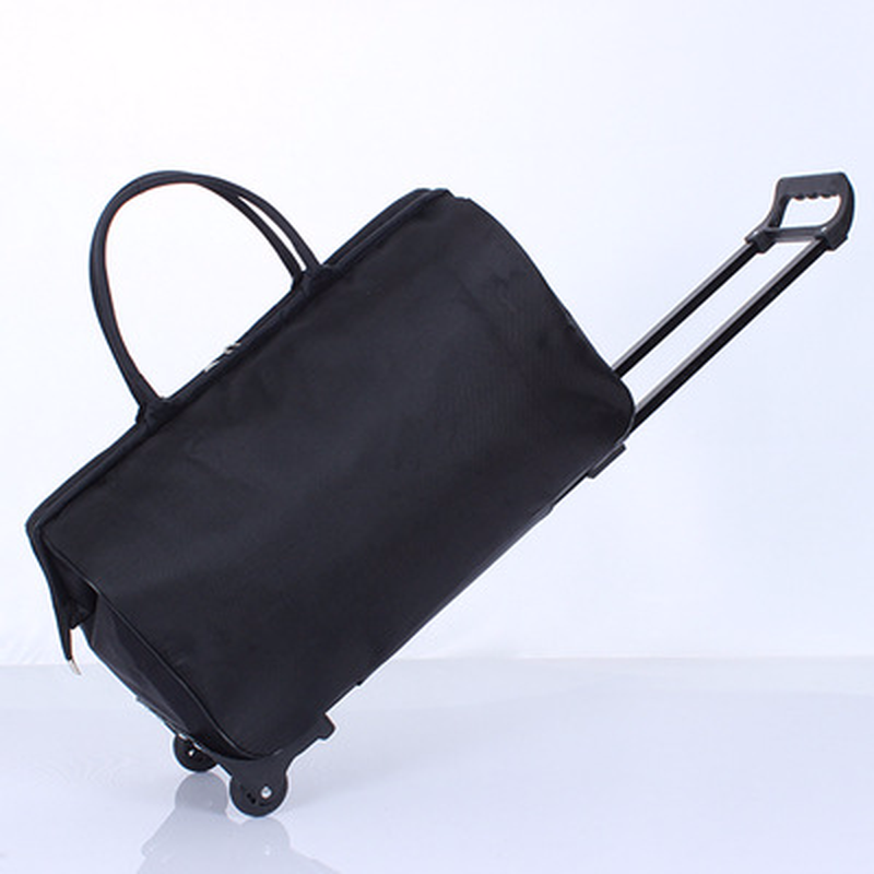 Мужской путешествия Чемодан сумка мешок большой емкости интернат окно сумка тележка Портативный Для мужчин тяга мода колеса ночь сумки