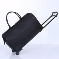 Male Travel Luggage Bag Handbag Bag Large capacity Boarding Box Bag Trolley Portable Men Pull Rod Fashion Wheels Overnight Bags