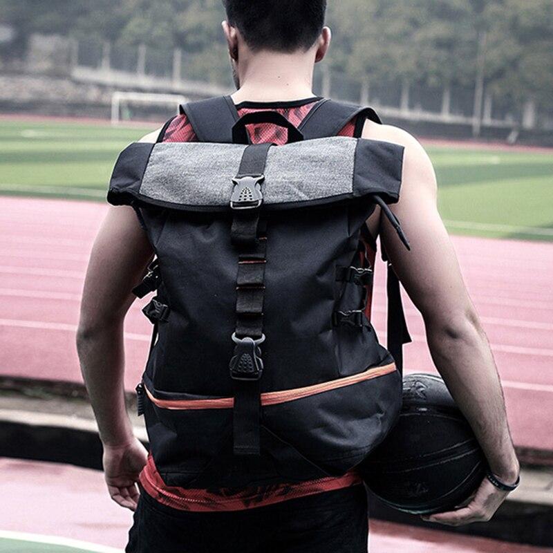 Sac à dos de Sport en plein air hommes grande capacité sac à dos de basket-ball Rugby randonnée Double sac à bandoulière ordinateur portable sac à dos formation Pack