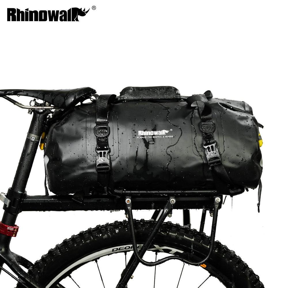 Rhinowalk Full Waterproof Bicycle Carrier Bag Handbag Travel Casual Luggage Bag Shoulder Crossbody Bag 20L