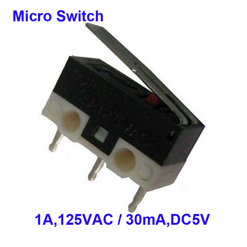 Top Quality Sale Price 50 Pcs A Lot Widely Used 1A, 125VAC 3P Mininature Microswitch Copper Contact
