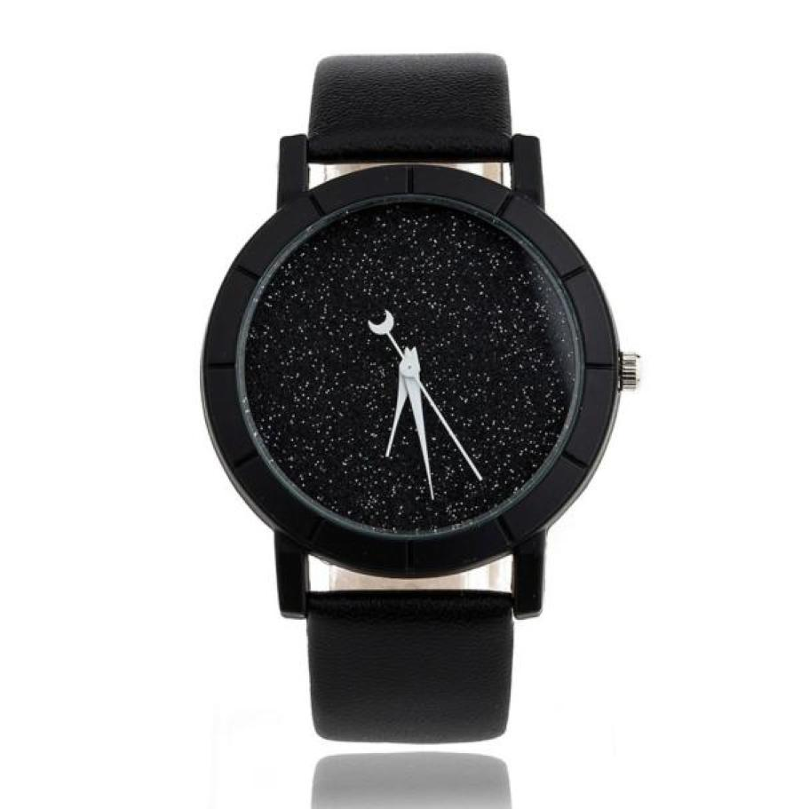 Women Men Watches Star Minimalist Fashion Wristwatch For Lovers Leather Strap Bnad Bracelet New Casual Luxury Beautiful StyleA65