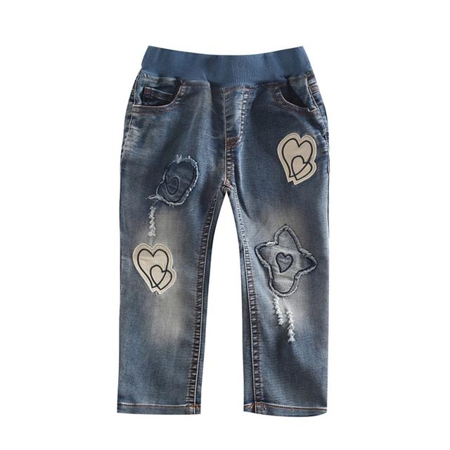 Retail girls pantalones vaqueros ocasionales 100% pantalones de algodón niños del otoño del resorte pantalones vaqueros ropa de los niños pantalones pantalones de niñas bebés G5145