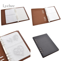Lychee 1 Parça Sentetik Deri Kesme Ölür Stencil DIY Scrapbooking Dekoratif Kağıt Zanaat Toplamak