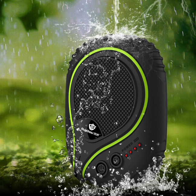 RugGear Waterproof PowerBank 6600mAh with LED flashlight for Outdoor Adventures Waterproof Power Bank