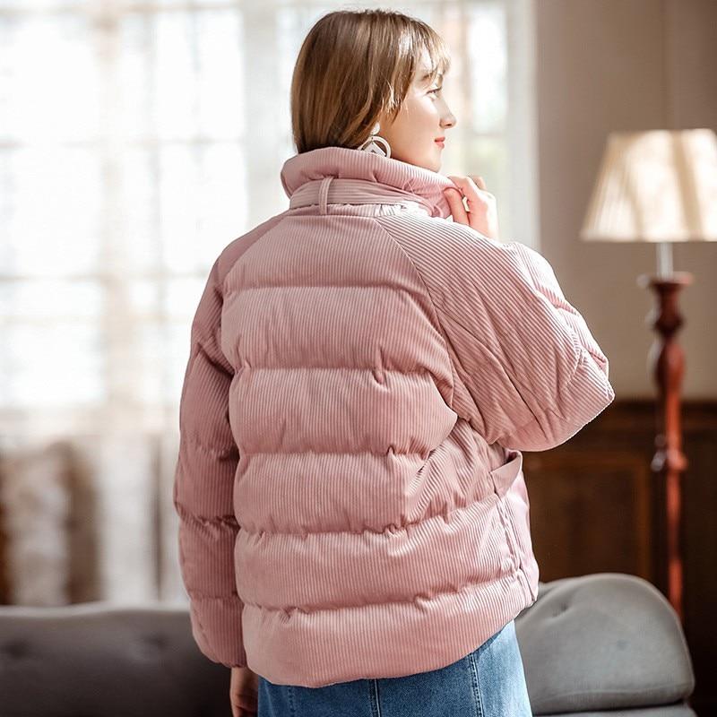 Court Col Vers Épais À Rose Bas Chaud Manches Stand Manteau Côtelé Longues Arc Designer Femmes Vestes Le Pink De Dames En Manteaux 2018 Mode Nouveau Velours w8aIfqaHn