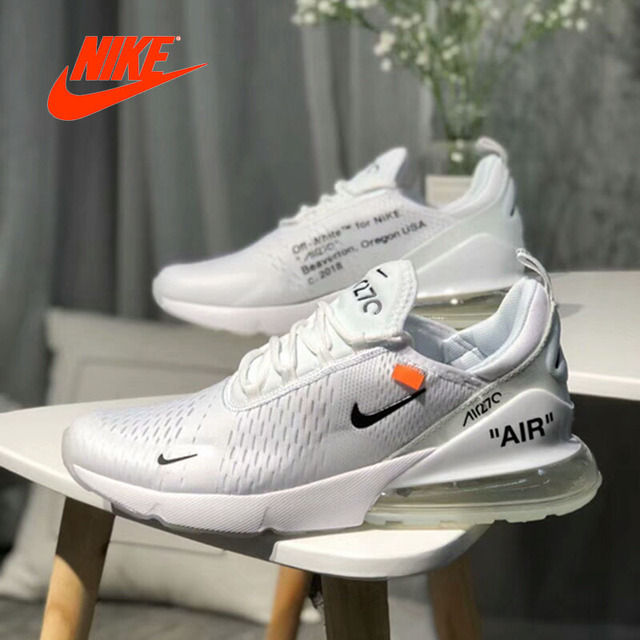 62cfeae5e321d Original New Arrival Official Nike Air Max Breathable Cushion Sports Shoes  White Black Running Shoes AH8050-100 free shipping worldwide