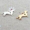 20 unids/lote 10*20mm de Metal Chapado En Oro Encanto Animales dachshund Perro Para Hacer La Joyería DIY