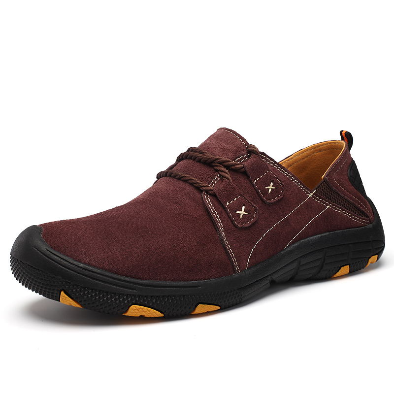LAISUMK Comfort Casual Shoes Men Flats Quality Suede Men Loafers Shoes Genuine Leather Shoes Masculino Autumn Outdoor Shoes in Men 39 s Casual Shoes from Shoes