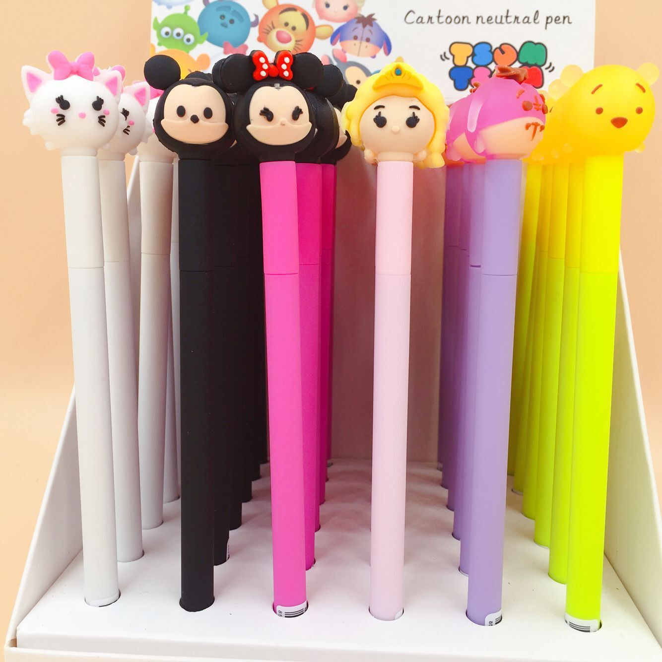 6 pcs/lot Cartoon Happiness Family Gel Pen Signature Pen Escolar Papelaria School Office Supply Promotional Gift 4 pcs lot novelty lovely my neighbor totoro gel ink pen papelaria escolar school office supply promotional gift signature pens