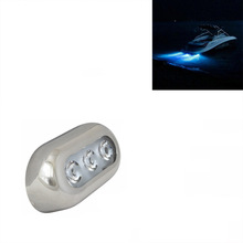 Blue LED Underwater Marine Boat Yacht Light With Stainless Steel Bezel 12V DC