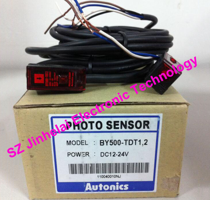 New and original  BY500-TDT1,2   AUTONICS   PHOTO SENSOR  12-24VDC 100% new and original fotek photoelectric switch a3g 4mx mr 1 free power photo sensor