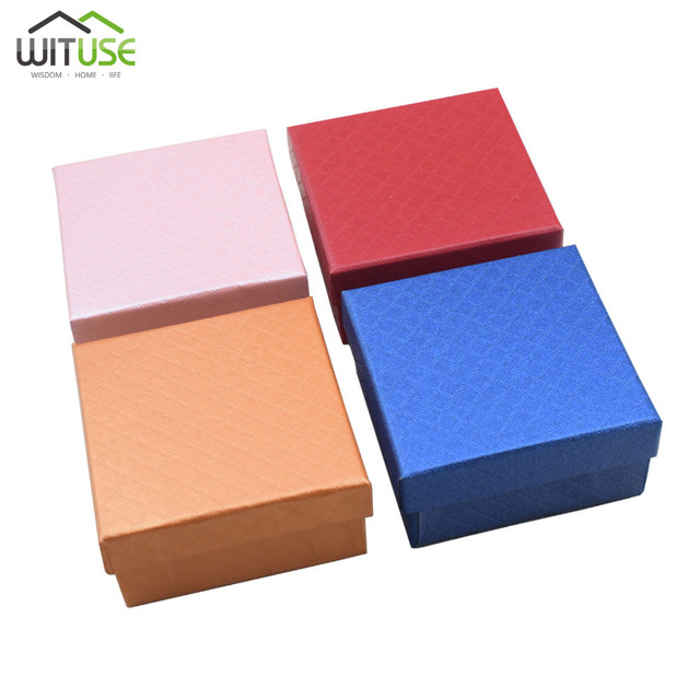 Us 1 97 25 Off Wituse Fashion Colorful 1pc Jewery Organizer Box Rings Storage Cute Box Small Gift Box For Rings Earrings Watch 6 Colors In Gift Bags