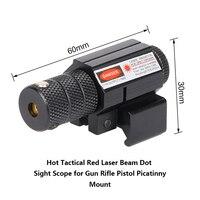 L'installation de 1x2x3 x laser vue monté fusil pistolet batterie clé Picatinny vue gamme en rouge laser chaleur