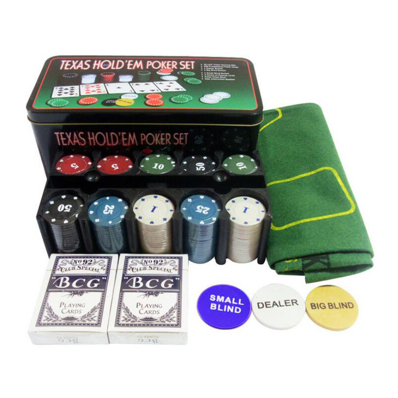 Jeu De Jetons De Poker 200 pièces jetons de Poker nappe Concessionnaire Stores cartes À Jouer cartes de Poker
