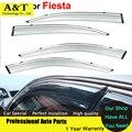 Viseiras Da Janela estilo do carro Para Fiesta Hatchback 2013 2014 2015 Sol Chuva Escudo Adesivos Capas de Carro-Styling Toldos Abrigos