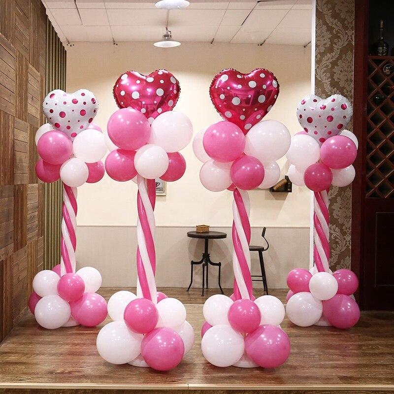 Wholesale 30Sets 150cm Balloon column base /stick /plastic poles + ...