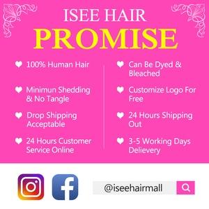 Image 5 - ISEE HAIR Straight 613 Bundles With Closure 3 Bundles Brazilian Hair Weave Bundles Virgin Human Hair Blonde Bundles With Closure