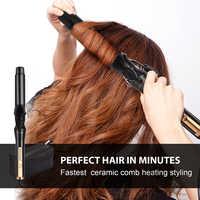 Ocaliss RM C83 Profesyonel 110 220 V saç maşası Seramik Üçlü Varil Saç Bigudi Saç Waver Şekillendirici Araçları Saç Şekillendirici