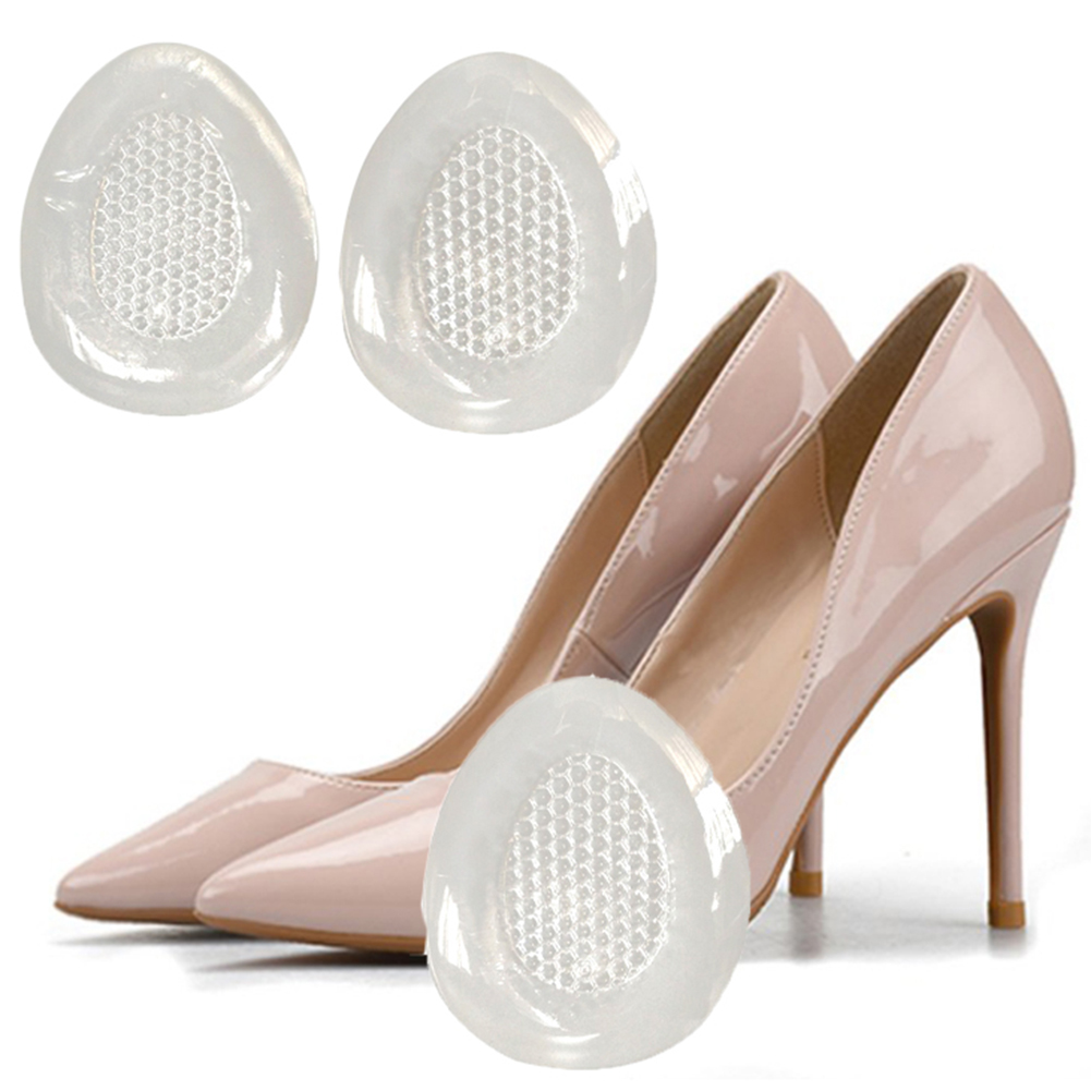 New 2Pcs T-Shape Transparent Gel High Heel Liner Grip Back Insoles Heel Pad Mat