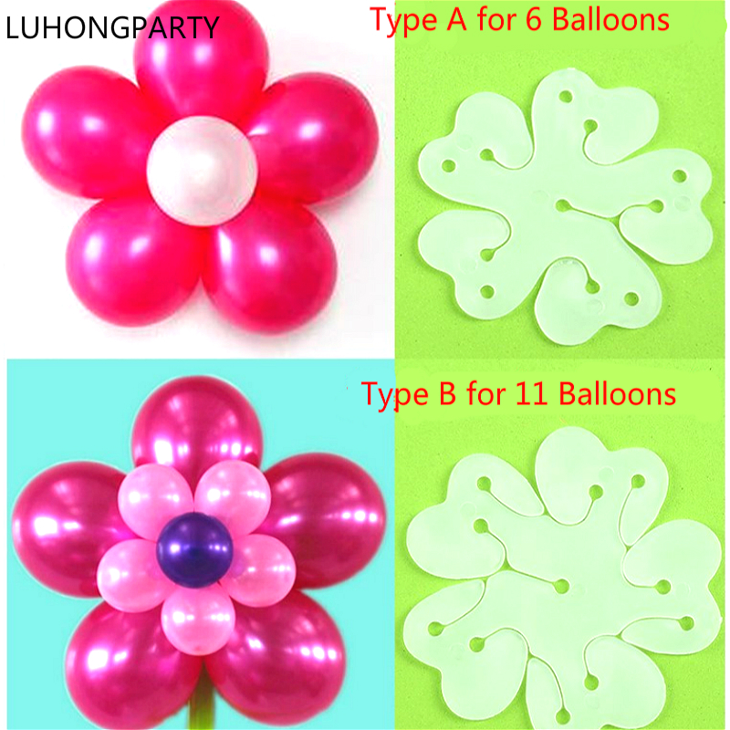 10pcs/lot Balloon Seal Clip That Combine 6/11 Balloons to Flower Shape Multi Sticks Accessory