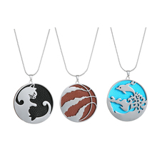 Legenstar Creative Mens Basketball Pendant Necklaces Charms For Women And Men Stainless Steel Cat and Dolphin Fashion Necklace