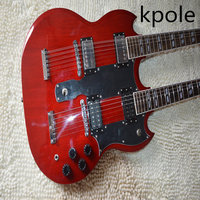sell like hot cakes! Cherry red 1275 Custom Shop double Neck Electric Guitar 6/12 strings Wholesale Free Shipping