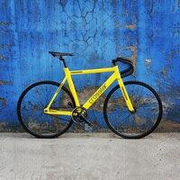 Фиксированная передача велосипед городской трек Байк; велосипед вилка из углеродного волокна велосипед для езды на работу 15 мм обод дорожн...