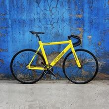 Fixed Gear Bike Urban Track Bike Fixie Carbon Fiber Fork Commute Bike 15mm rim road bike T2 frame fi