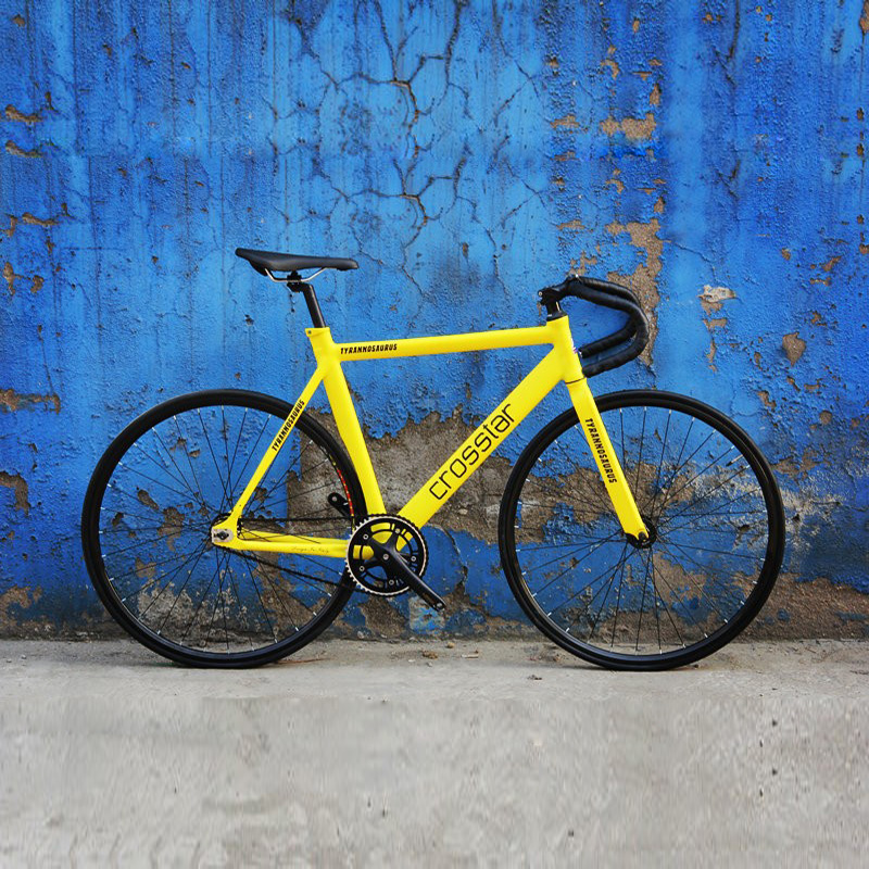 Fixed Gear Bike Urban Track Bike Fixie Carbon Fiber Fork Commute Bike 15mm rim road bike T2 frame fixie bicycle image