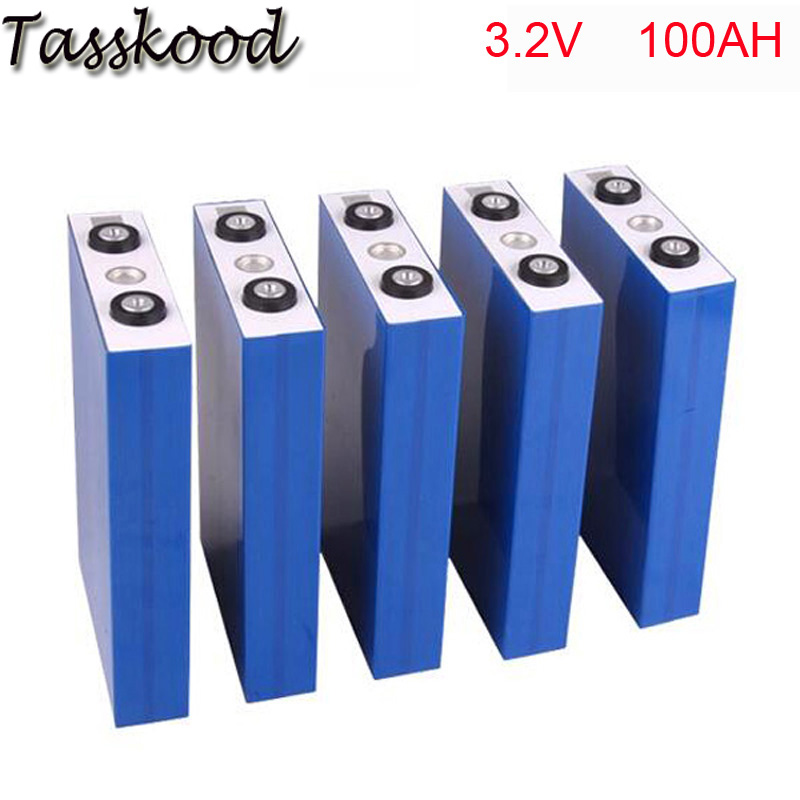 цена на 4pcs/lot 3.2V 100Ah lifepo4 battery with 2000 times life cycle for electric vehicles/storage system/UPS
