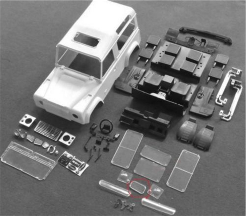 #XS-59491Xtra Speed D90 Hard Plastic Body Shell Interiors System Kit EP 4WD For 1:10 RC Land R Crawler Kit Car Parts