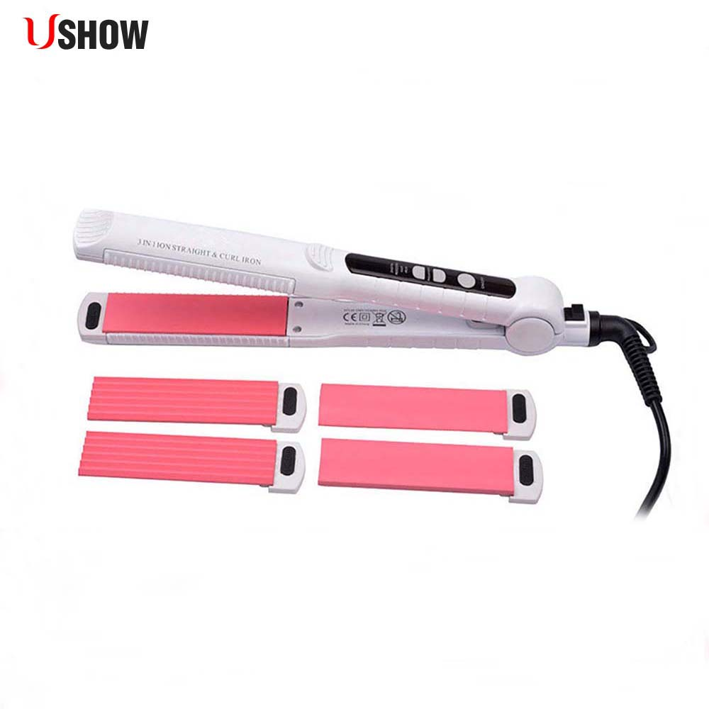 USHOW 3-In-1 Tourmaline Ceramic Hair Curler