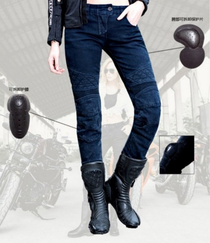 Ms. Uglybros ub 09 Motorcycle women Jeans / Road Riding Jeans / Blue Jeans Two Sets of Protective Gear uglybros vegas jeans hidden side of the knee motorcycle riding motorcycles jeans trousers blue