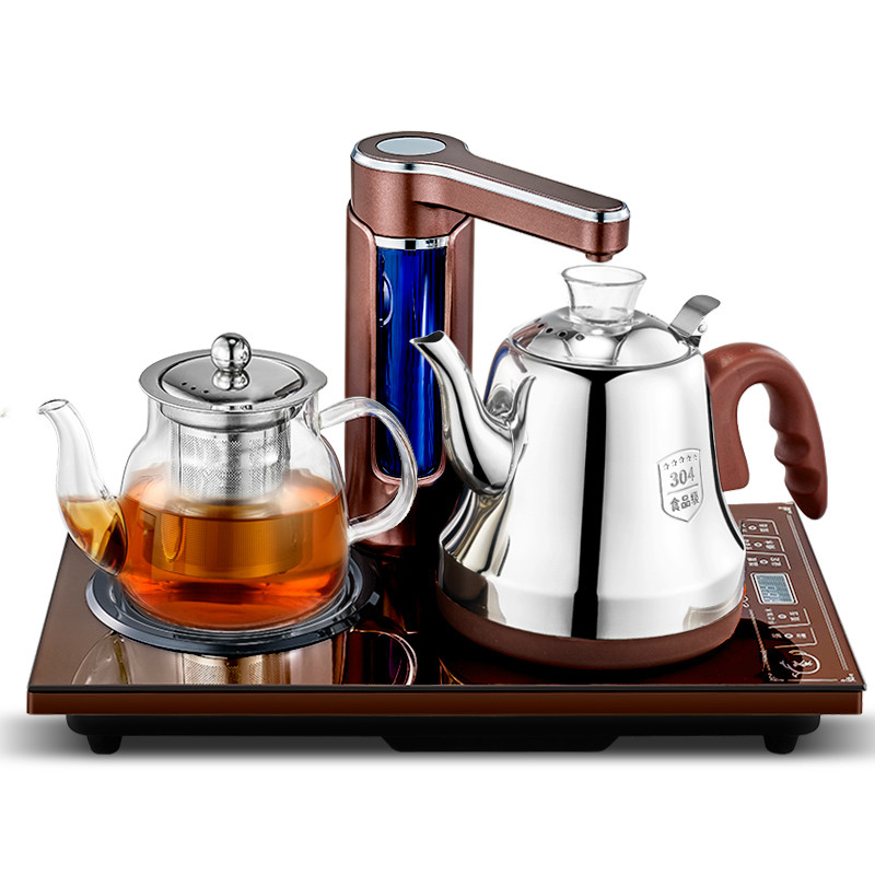 Fully automatic Upper kettle electric 304 stainless steel brewing tea with set fully automatic upper water electric kettle 304 tea set teapot for household use