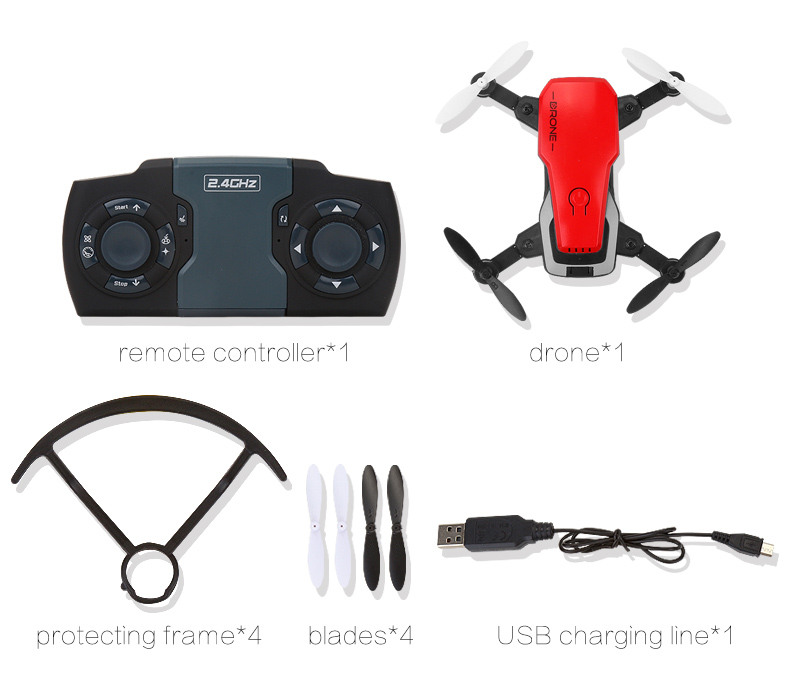 <font><b>mini</b></font> <font><b>drone</b></font> <font><b>FPV</b></font> wifi with camera HD remote control collapsible helicopter self-timer four-shot children image