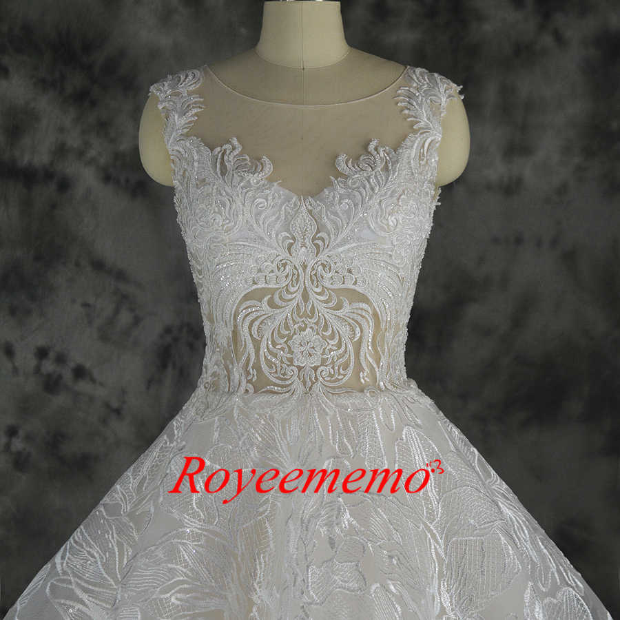 f7413ee2c2ff2 ... 2019 new design lace ball gown wedding dress luxury Champagne and Ivory wedding  gown custom made ...