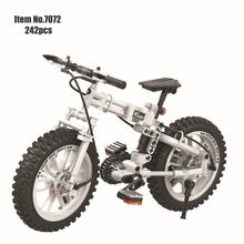 White Folding Bicycle Building Block Brick Toy Compatible With Technic Intelligent Gift For Children