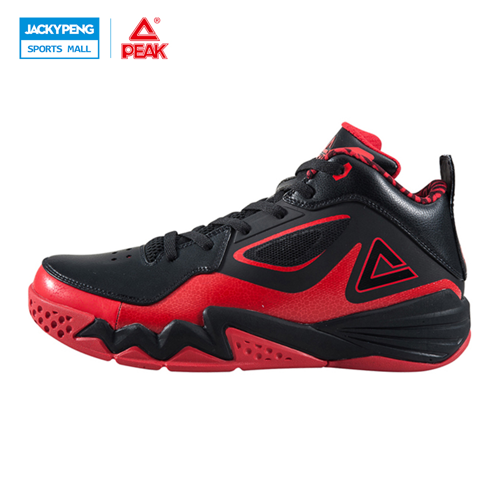 PEAK SPORT Monster II Men Basketball Shoes Medium Cut Breathable Training Athletic Sneakers FOOTHOLD Tech Non-Slip Ankle Boots original li ning men professional basketball shoes