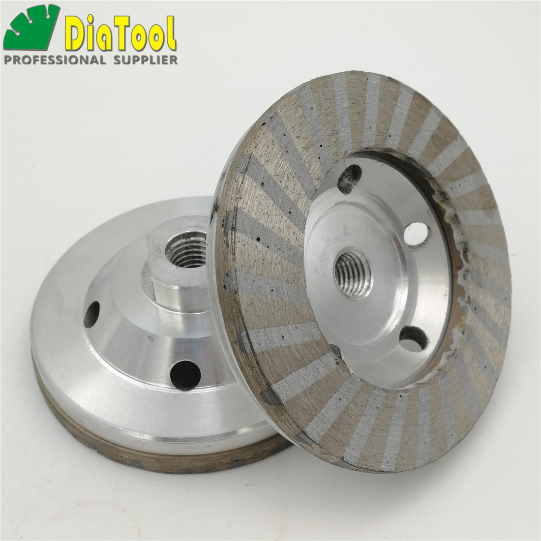 DIATOOL 2pcs 4in M14 Thread Aluminum Based Grinding Cup Wheel #50 #100 Diameter 100mm Diamond Fine Grinding With Great Finishing eglo подвесная люстра eglo pinto nero 90306