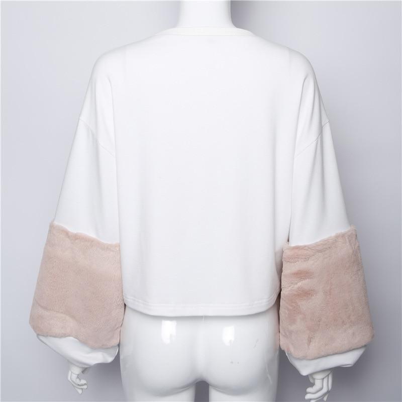 HTB1U2kFSXXXXXXWXXXXq6xXFXXXs - FREE SHIPPING Women Faux Fur Crop Hoodies Sweatshirt Tumblr Oversize Pink JKP282