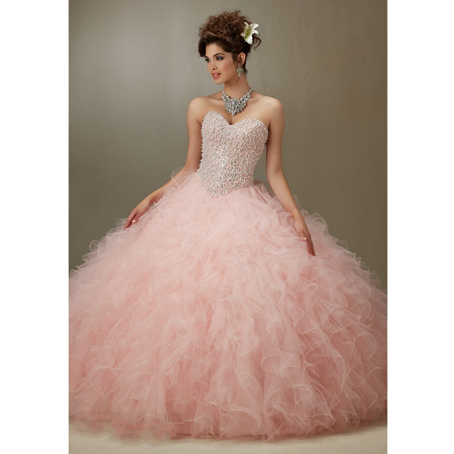 Cheap Ball Gowns Sweet 16 Dresses Lavender Masquerade Formal Light ...