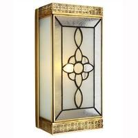 Classic Copper Square Wall Lamp for Hallway Corridor Staircase 1 Single Head