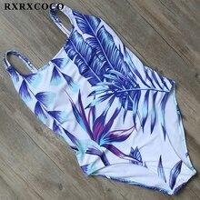 2018 Sexy Halter Straps Women Palm Trees Printed Swimwear