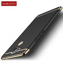 Makavo для Huawei Honor 6C про случай 5.2 «дюймов 3in1 покрытие Матовая Жесткий Корпус задняя крышка для Honor 6C 6 c Pro Телефонные Чехлы Coque