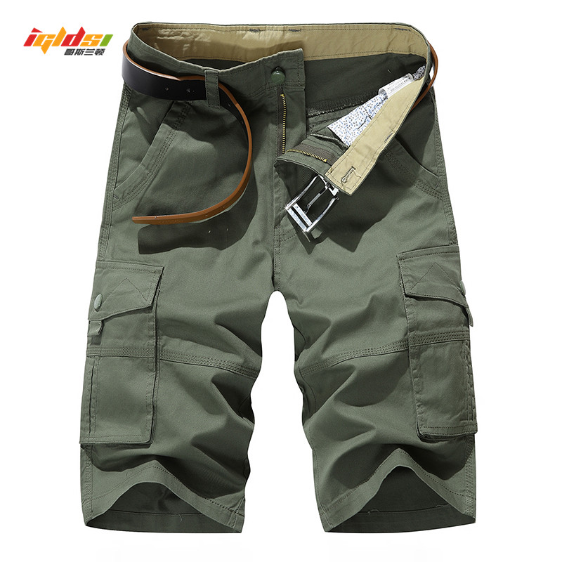 Men's Cargo   Shorts   Summer Multi Pockets Army Tactical   Shorts   Men Cotton Military   Shorts   Casual Loose Knee Length   Short   Pants 40