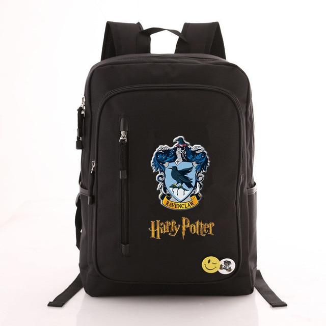 Рюкзак гарри Поттер эмблемы черный 2