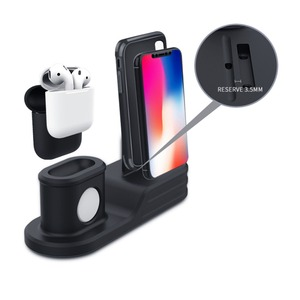 Image 2 - 3in1 Opladen Stand Voor Apple Horloge Charger Station Dock Voor Airpods Iphone 11 Pro Max Xr X 10 9 8 7 6 Iwatch Serie 6 5 4 3 Se