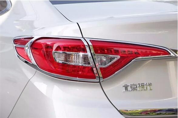 ФОТО 4pcs ABS Chrome Rear Tail Light Lamp Cover Trim Sticker for Hyundai Sonata (LF) 2015 Accessories